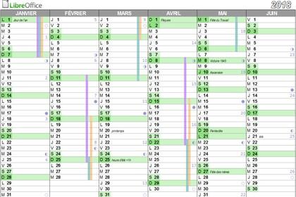 Calendrier 2021 Open Office Calendrier perpétuel