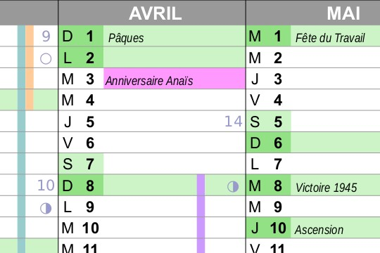 Calendrier 2020 A Completer.Calendrier Perpetuel